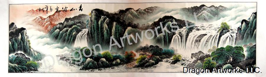 Chinese Landscape Painting Wall Scroll