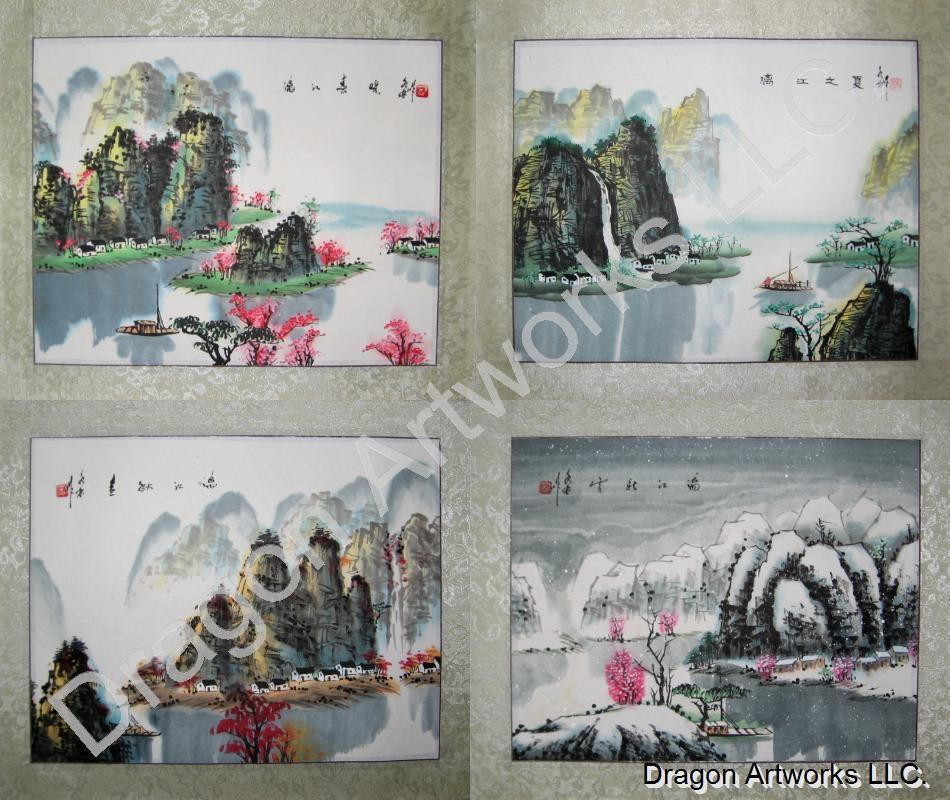 Chinese Four Seasons Painting Set