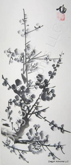 Black Plum Blossoms Chinese Painting