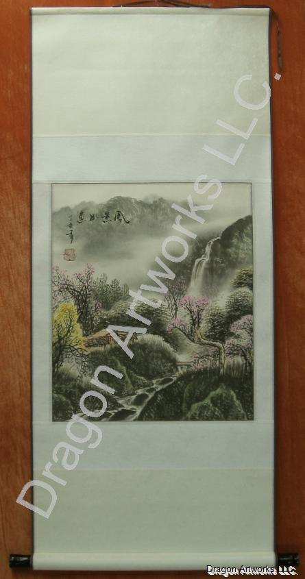 Chinese Landscape Painting Spring Brush Art Scroll