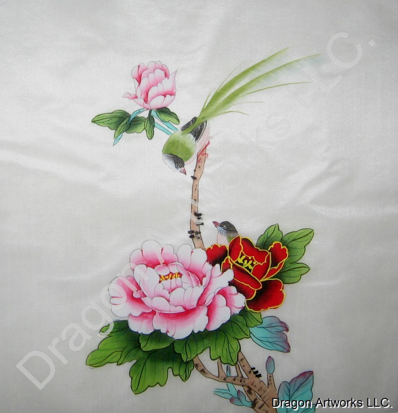 Birds and flowers chinese silk painting mightylinksfo