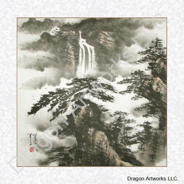 681d29b8a Marvelous Chinese Black Ink Landscape Painting